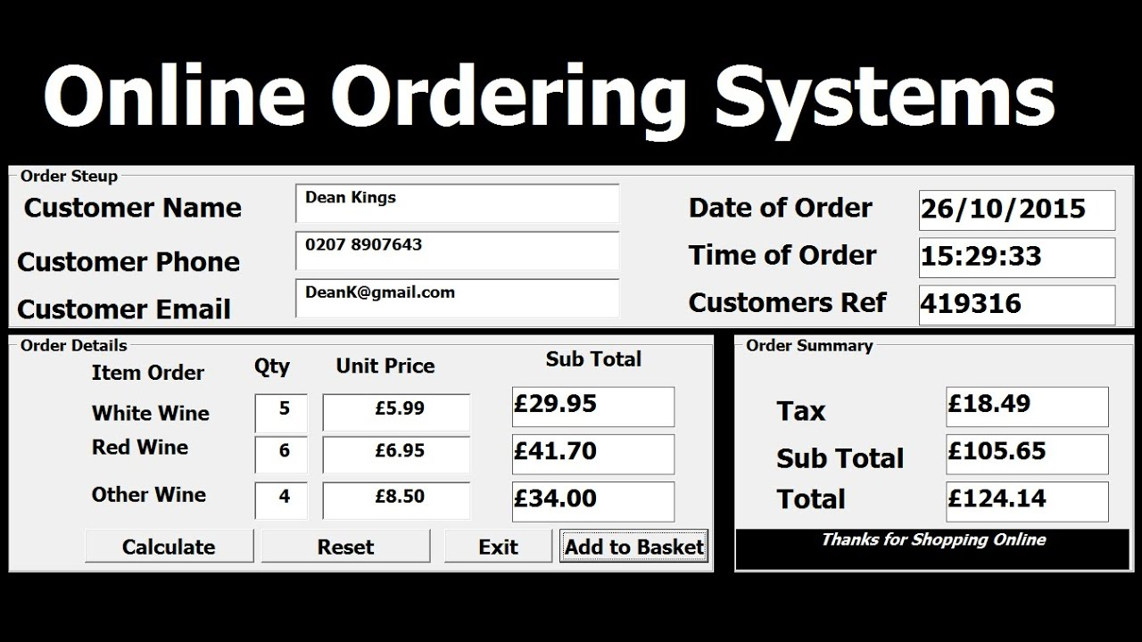 how to create a purchase order system in excel