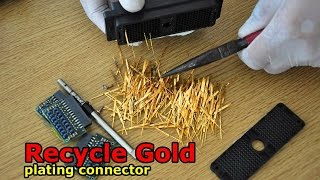 Search Gold plated pins connector old. gold for recycling electronics scrap recycle gold plating pin