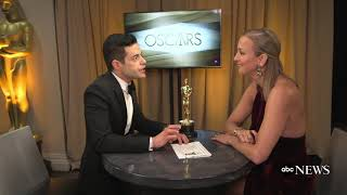 Backstage interview with Oscar winner Rami Malek