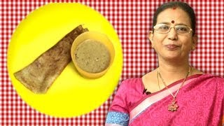 Andhra Pesarattu Recipe With Allam Pachadi | Mallika Badrinath Recipes | Dosa with Ginger Chutney