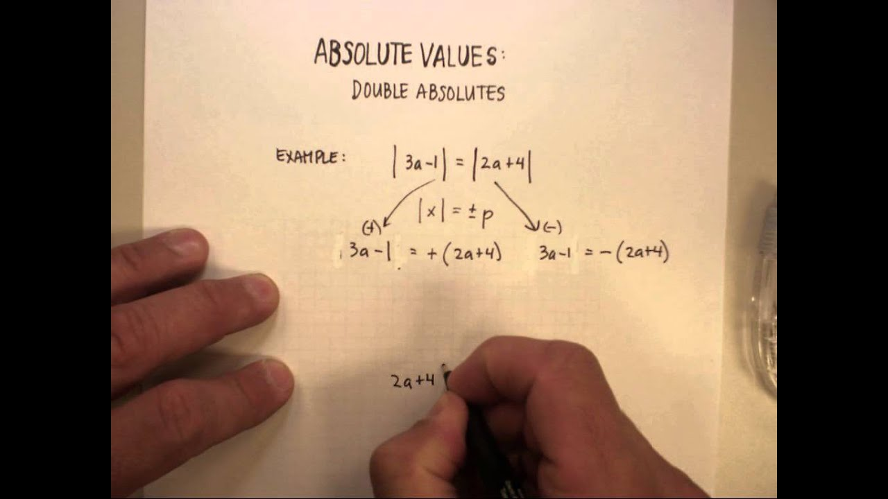 Absolute Value Double Absolute Value Equations Wmv Youtube