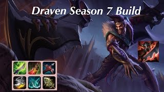 New Draven Build League Of Legends Season 7 Full Gameplay Youtube