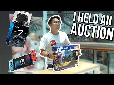 AUCTION FOR ARCADE TICKETS! PS4, SWITCH, GOPRO7 - Youtube Battles