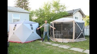 Camping With Steve - New Tent! Old Tent, and Backyard Bush Pizza