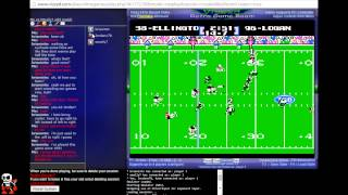 Tecmo Super Bowl 2015 (tecmobowl.org hack) - Netplay Tourney Wk 5 Match - User video