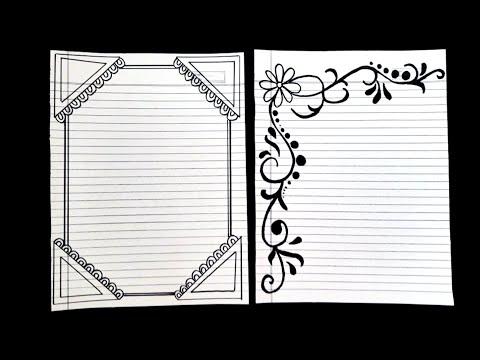 notebook border design | ruled paper border designs | border design aasani se kaise banaye | design
