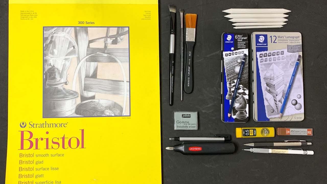 Drawing Materials/Art Supplies I use for Realistic Pencil Drawings