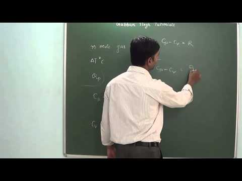 2.3 Thrmodynamics - Molar heat capacities Cp & Cv Mp3