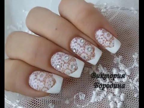 Свадебный маникюр, белый френч н Pinterest Свадебный