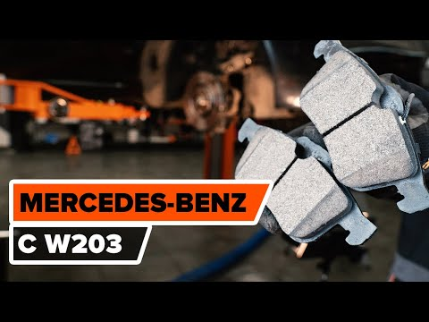 How to replace rear brake pads on MERCEDES-BENZ C W203 TUTORIAL | AUTODOC