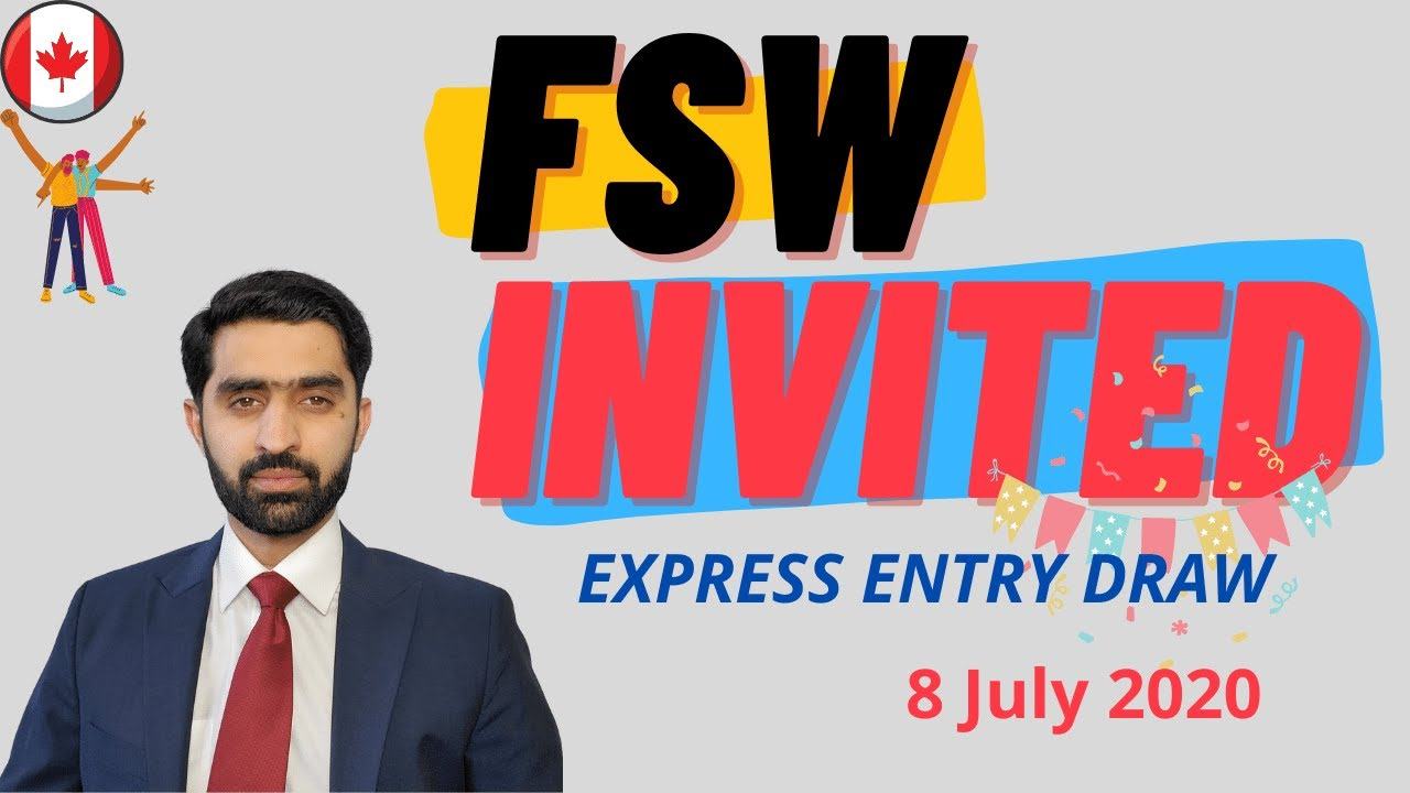 Latest Express Entry Draw - Federal Skilled Worker Invited - FSW draw today