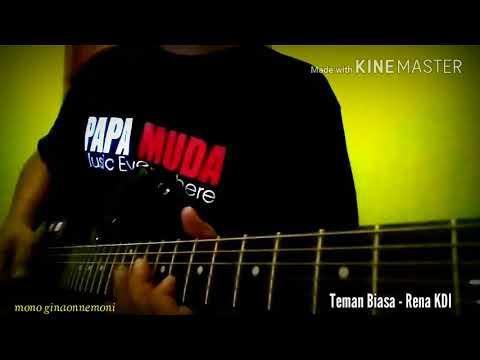 Teman Biasa - Rena KDI    Guitar Cover (ginaon = belajar)