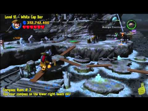 Lego Pirates of the Caribbean: Level 18 White Cap Bay - FREE PLAY (Minikits and Compass Items) - HTG