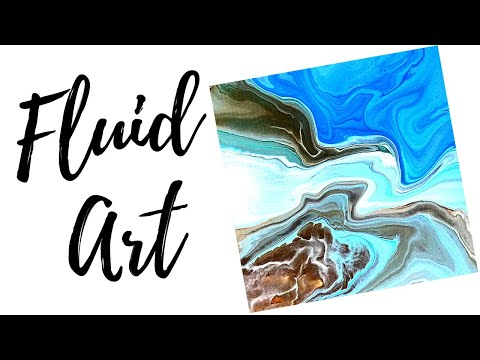 Fluid Acrylic Painting – Double Cup Flip Cup (2017 tutorial)