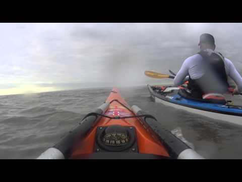 Paddling out to Steep Holm Island