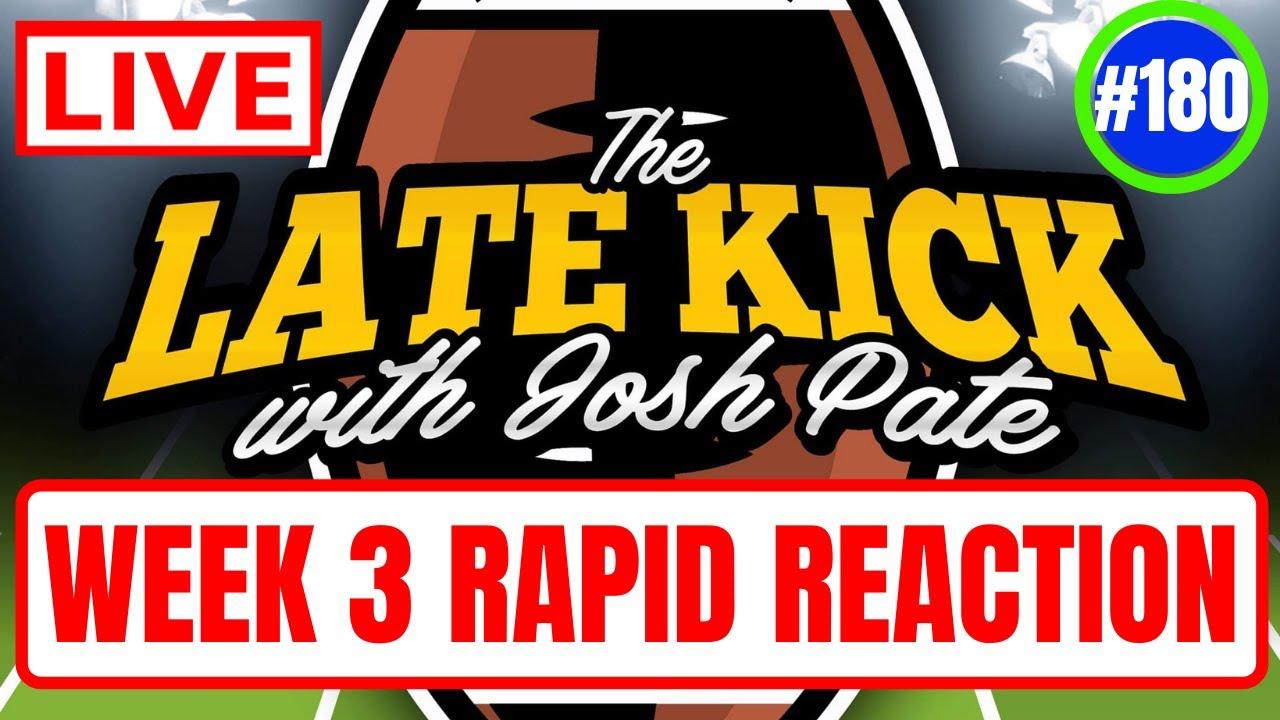 Download Late Kick Live Ep 180: Week 3 Reaction   AU-PSU   Bama-UF   Best Bets   Renaissance Tour Destination