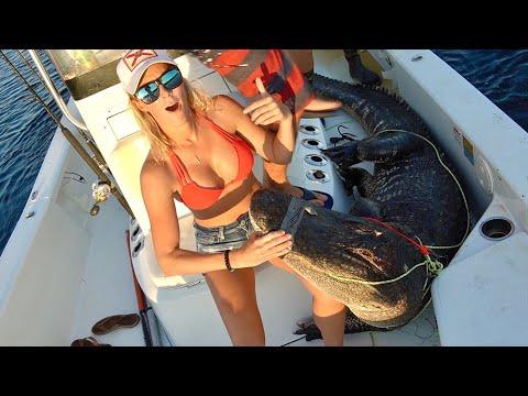 FISHING For BIG GATORS!! Florida Alligator Hunting
