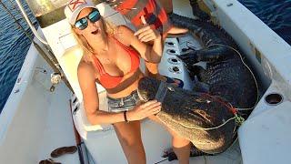 FISHING for BIG GATORS Florida Alligator hunting