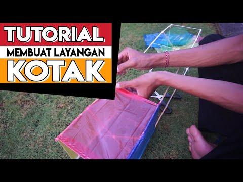 Cara Membuat Layangan Kotak | layang layang | kite