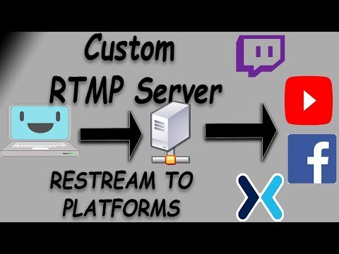 How to Make a Private RTMP Server & Re-Stream to Twitch, YouTube, etc (WINDOWS)