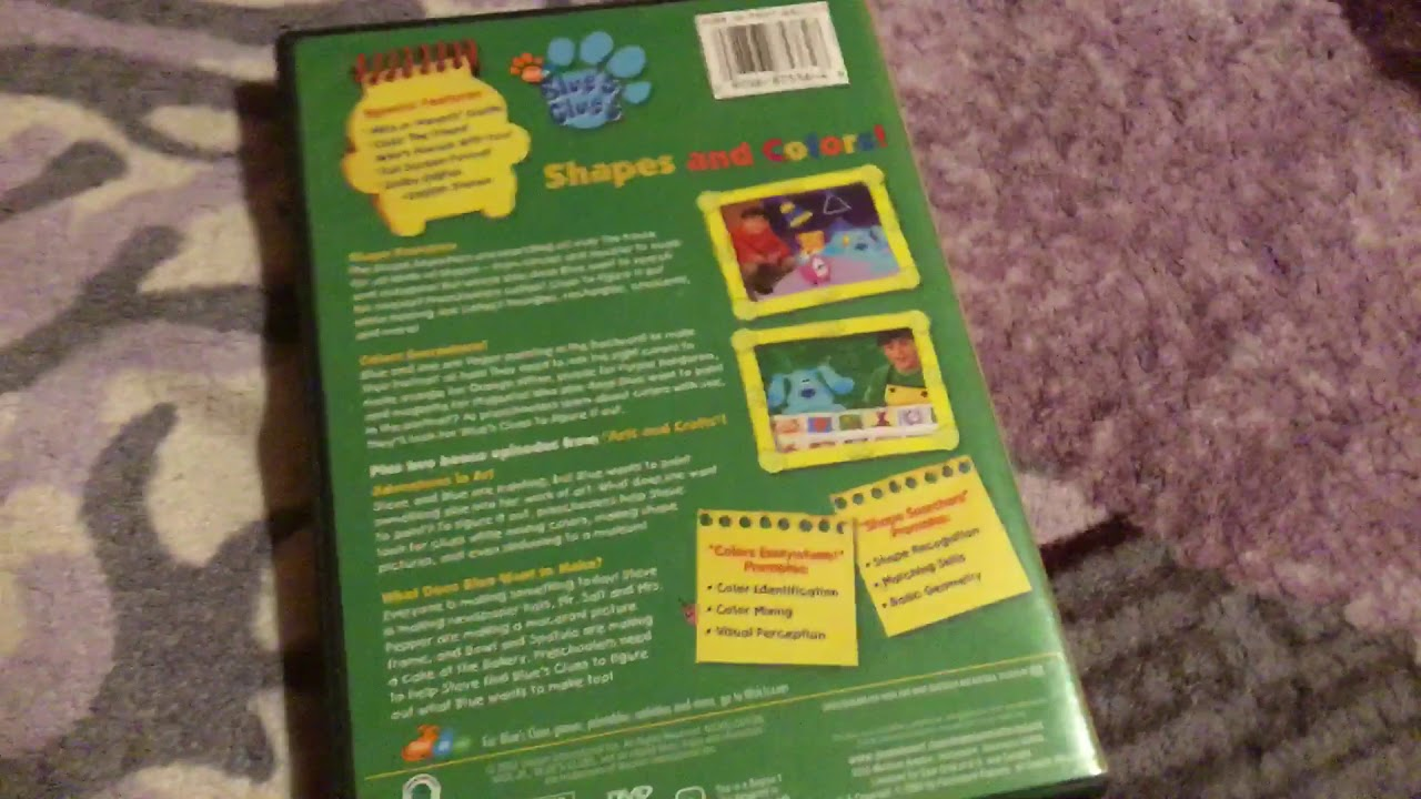 Blue's Clues: Shapes And Colors! 2003 DVD Review