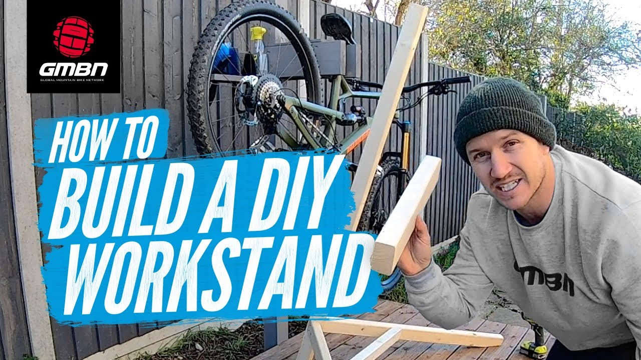 Blake Builds A DIY Mountain Bike Work Stand - YouTube