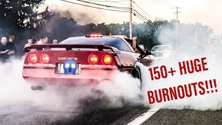 THE WILDEST BURNOUT VIDEO EVER - 150+ Non-Stop Burnouts From Macungie Wheels Of Time 2019 Car Show!