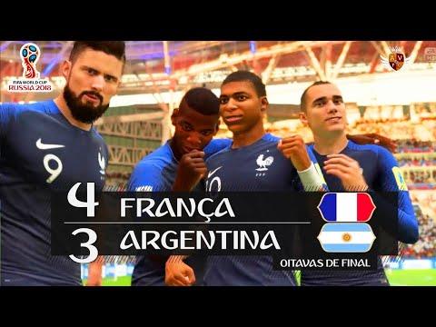 FRANÇA 4 x 3 ARGENTINA - COPA DO MUNDO RECRIADA NO FIFA 18