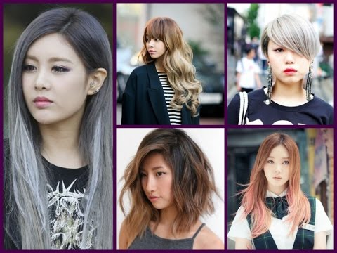 Trendy Hair Color - Asian Girls Hairstyles - YouTube