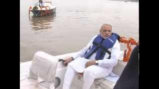 Shri Narendra Modi enjoying water ride at the Sabarmati Riverfront, Ahmedabad