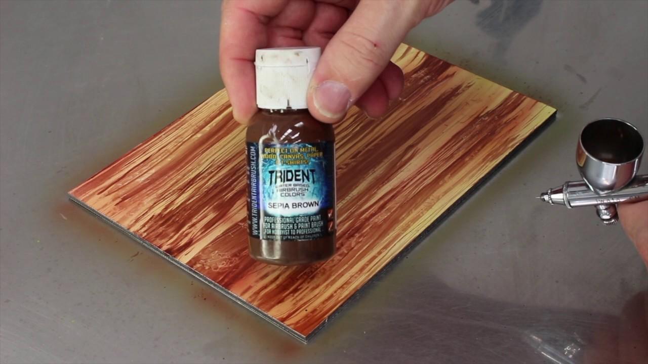 Airbrush Wood Stain