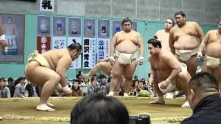 2012年4月11日(日)、栃木・佐野巡業の模様です。 イケメン関取の一人、...
