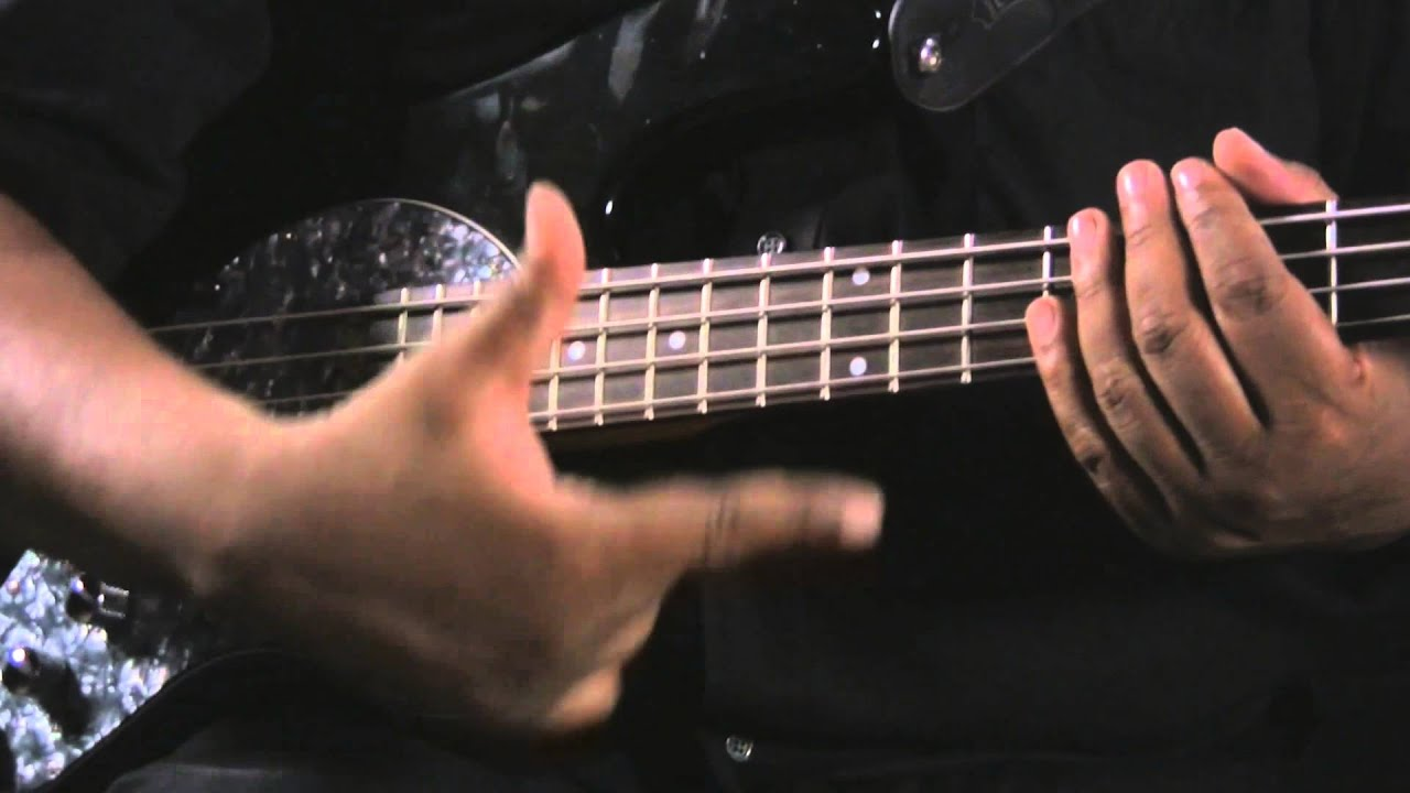 right hand slap bass techniques bass guitar youtube