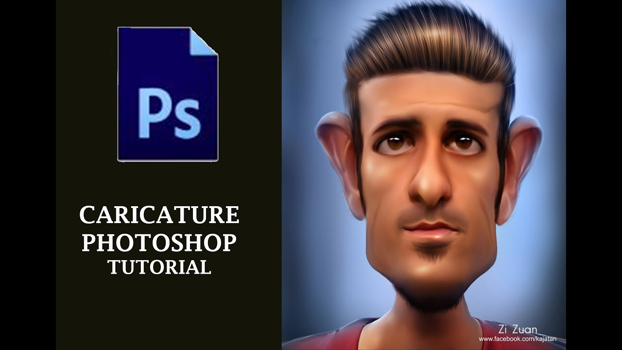 Photoshop tutorial how to make caricature in photoshop cs6 youtube baditri Gallery