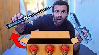 I Bought A Dark Web WEAPONS Mystery Box!! *SCARIEST BOX EVER...*