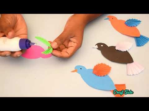 HOW TO MAKE PAPER BIRDS | DIY PAPER CRAFTS | CRAFT SIDE