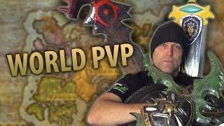 STARTING WARS - WoW Legion Broken Isles World PvP & Getting Camped