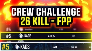 #5th KAOS TEAM | PUBG Mobile Crew Challenge - FPP Mode (Türkçe)