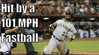 MLB 96 MPH+ Hit By Pitches Compilation