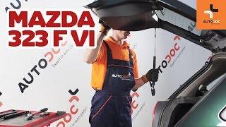 Hogyan cseréljünk Csomagtartó gázrugó MAZDA 323 F VI (BJ) - video útmutató