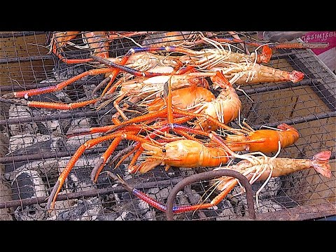 SHRIMPs River PRAWNs ALIVE FRESH | Street Food Bangkok Thailand