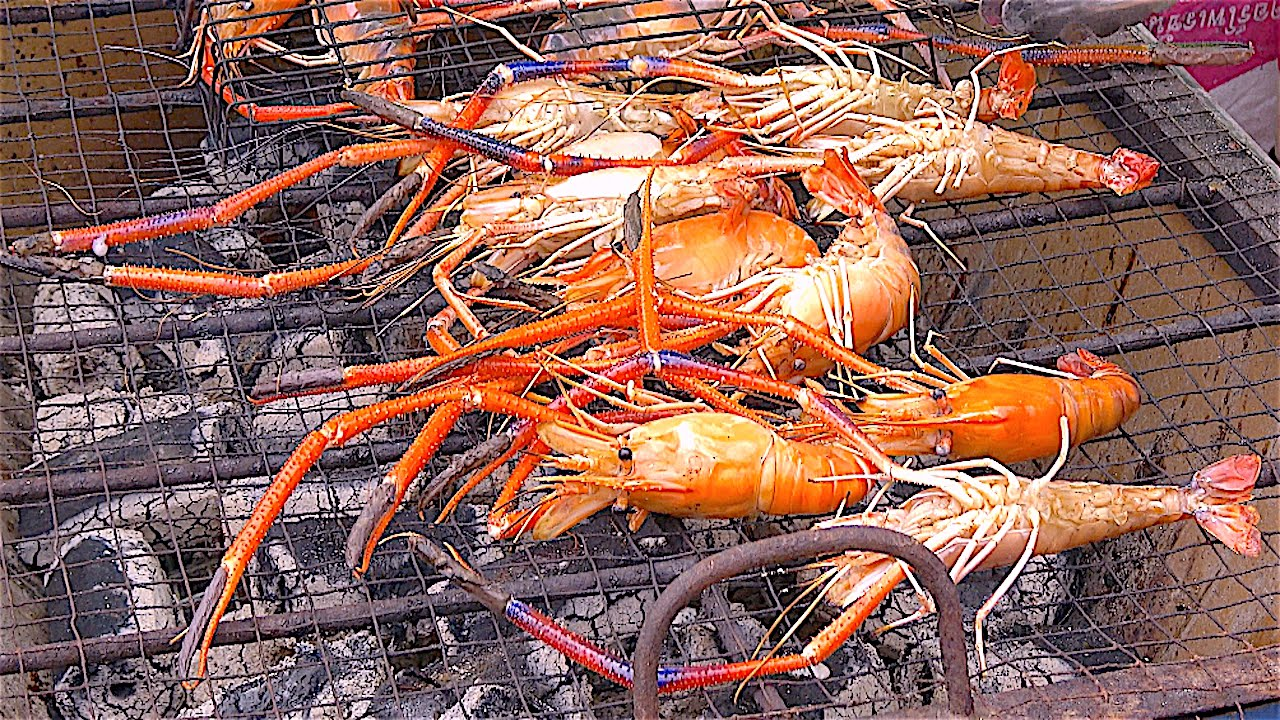 SHRIMPs River PRAWNs ALIVE FRESH | Street Food