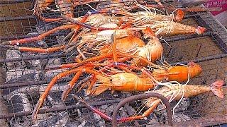 SHRIMPs River PRAWNs ALIVE FRESH | Street Food Bangkok Thailand