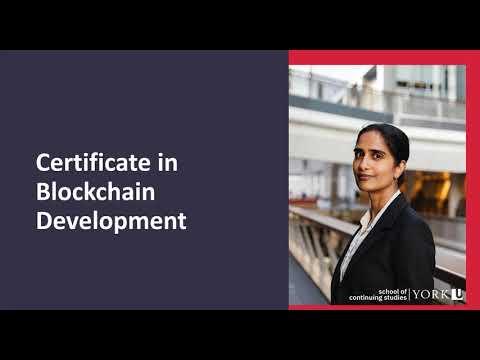 Certificates in Blockchain Development Webinar Information Session- January 2021