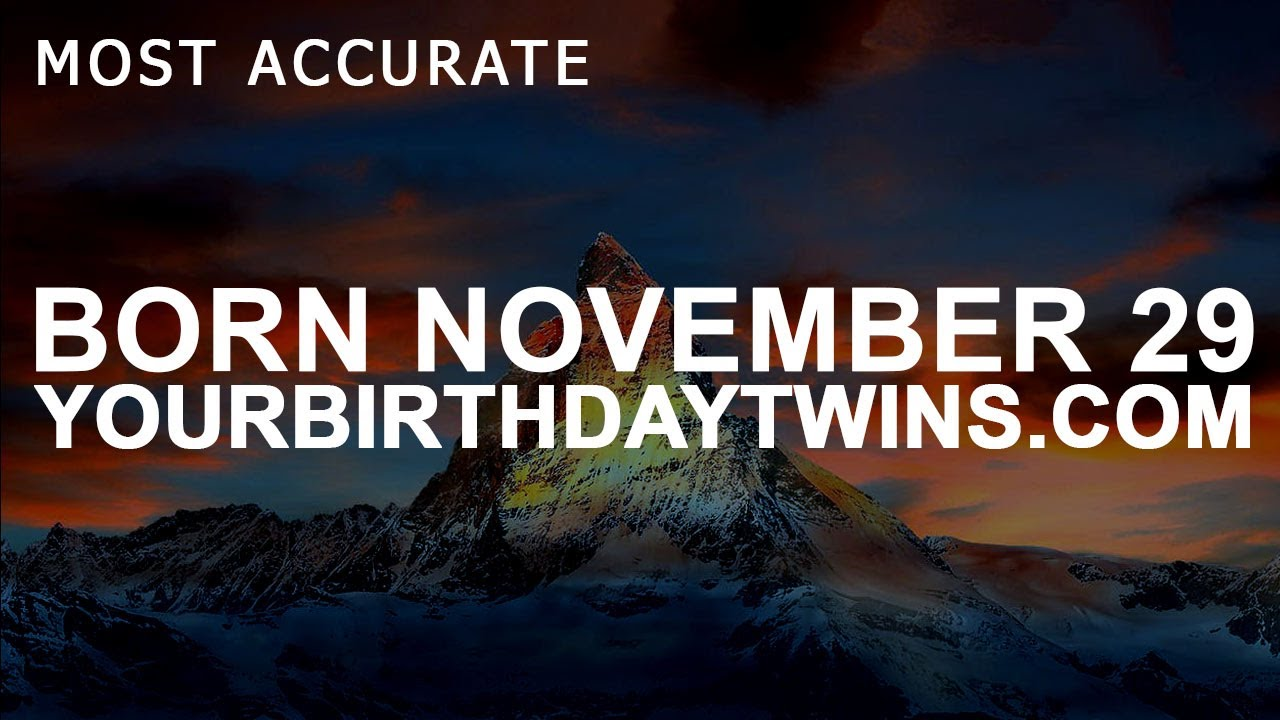 november 29 born numerology