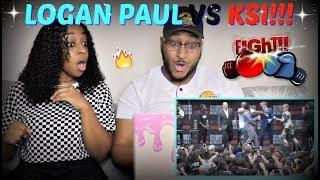 KSI VS LOGAN PAUL PRESS CONFERENCE HIGHLIGHTS REACTION!!