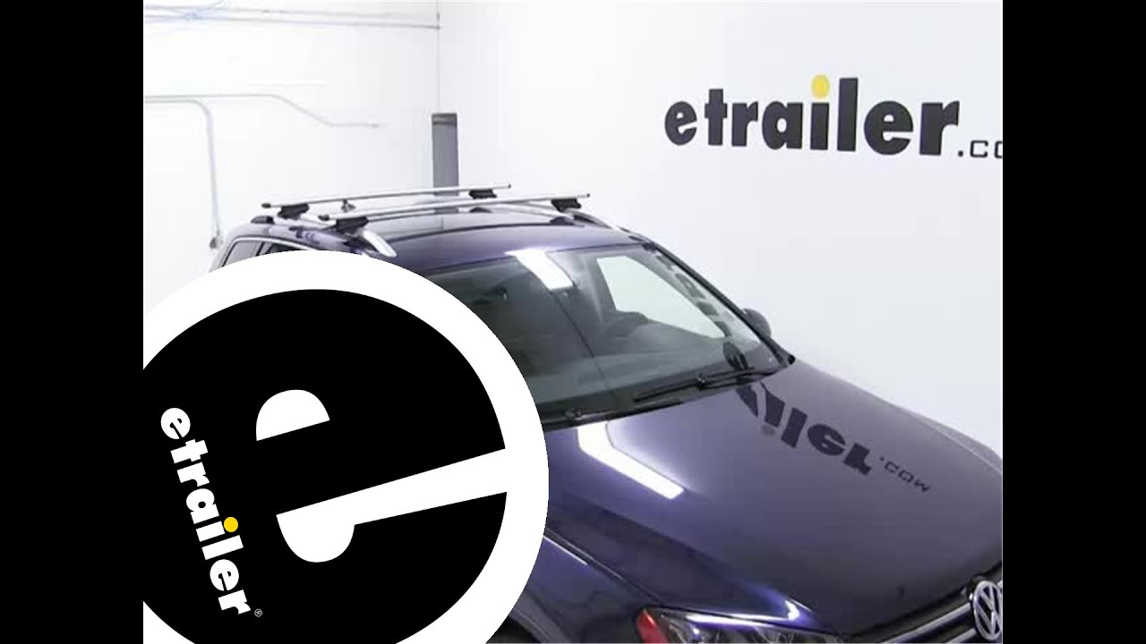 Installation Of The Thule AeroBlade Crossroad Roof Rack On A Volkswagen  Touareg   Etrailer.com