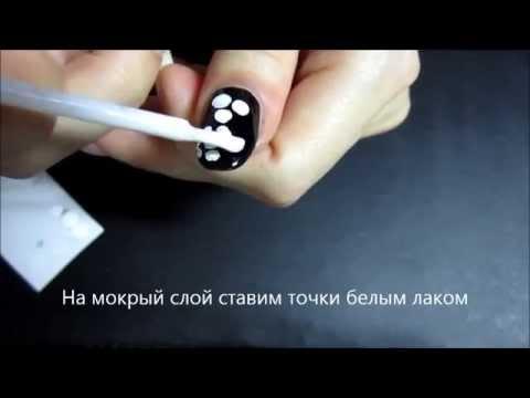 Белый рисунок на ногтях гель лаком