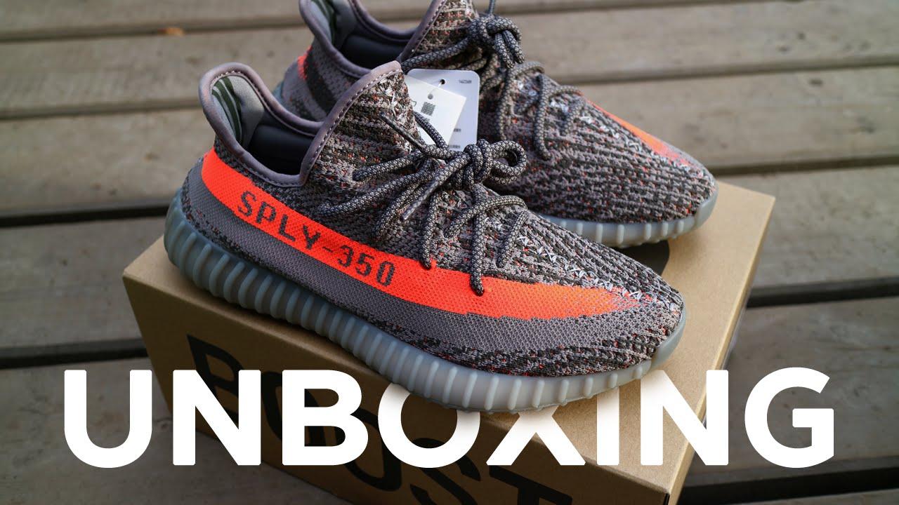Unboxing ? ????? ????????? adidas Yeezy Boost 350 V2 Beluga