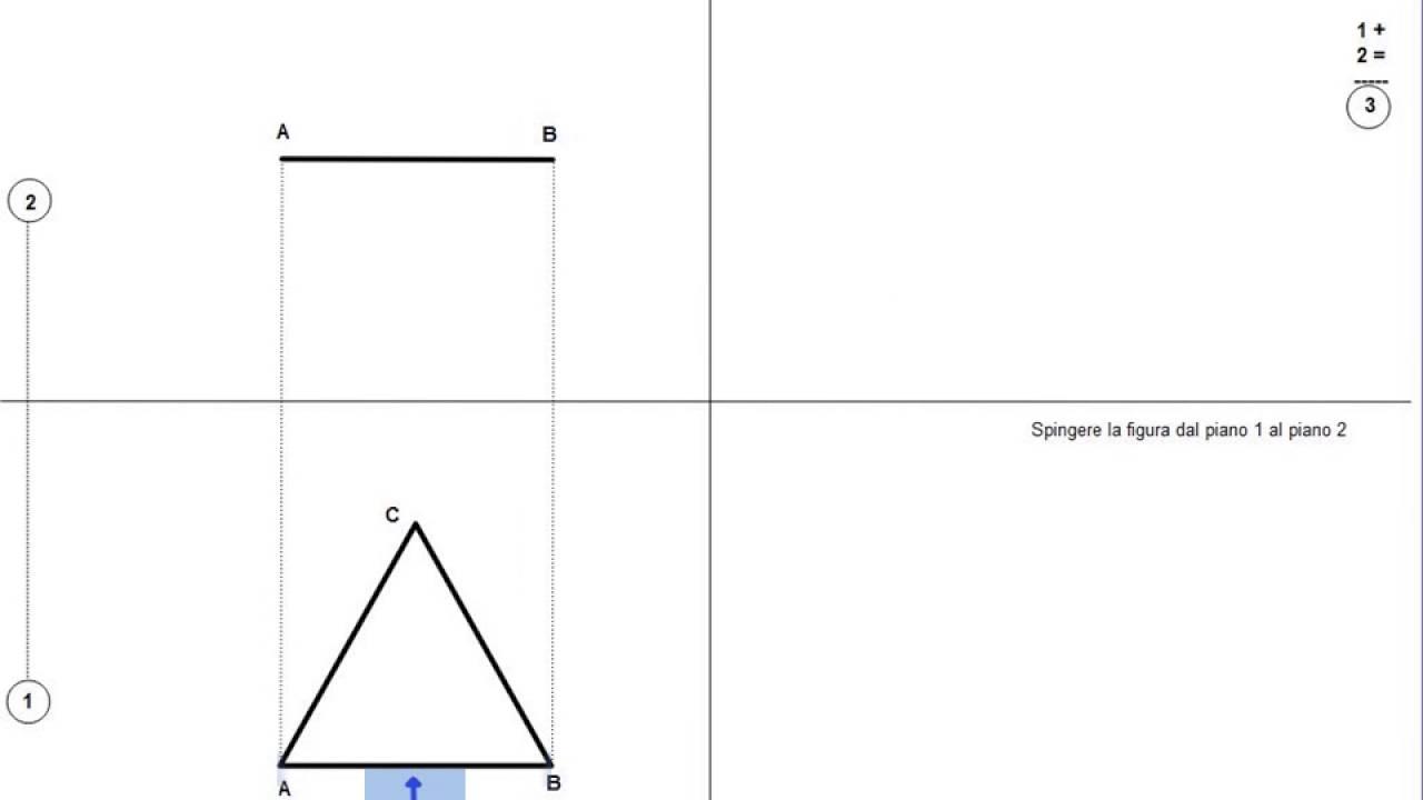 Proiezione Di Un Triangolo Equilatero Parallelo Al Po Youtube